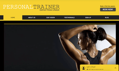 wix fitness templates