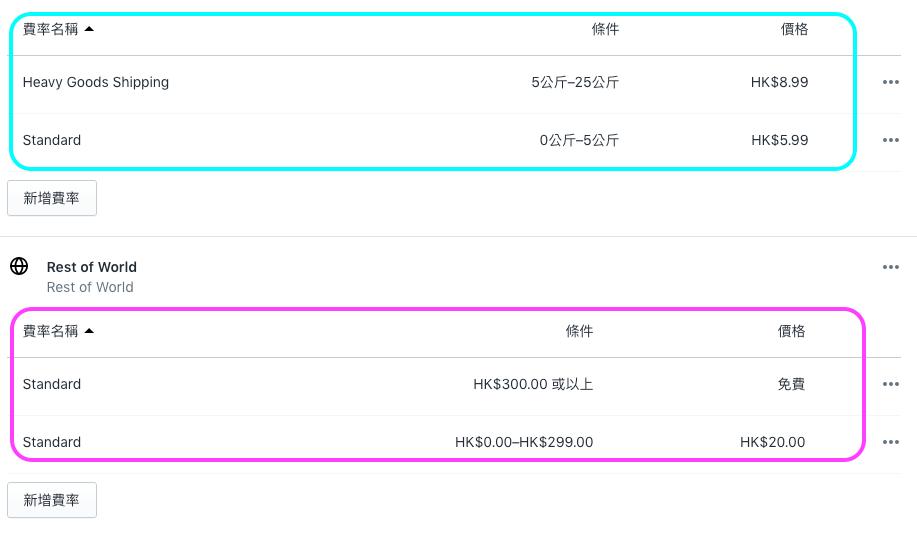 Shopify Shipping Setting1