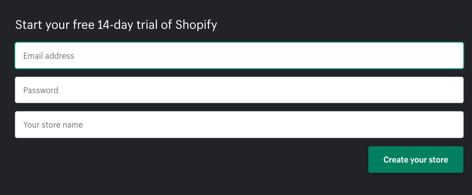 how to register on shopify